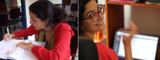 À esquerda, eu escrevendo em 2006. À direita, eu sigo escrevendo, em foto de 2016. Que eu nunca pare de fazer a coisa que mais gosto nessa vida! :) Fotos: arquivo pessoal