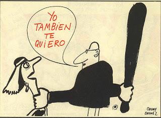 Charge encontrada neste site: http://sinlasmujeresnohayeconomia.blogspot.com.br/2012/03/carlos-arroyo-el-machismo-de-todos.html , que lista 57 outras formas de machismo modernas.