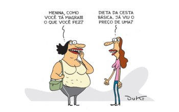 "Charge do Duke, publicada no ""O Tempo"" de 16.3.2013."