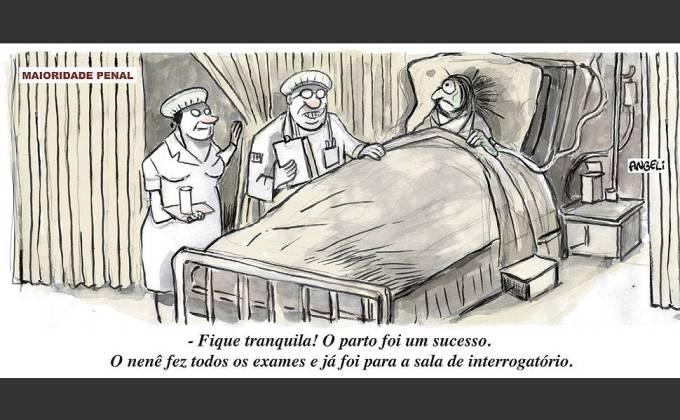 """Charge na """"Folha"""" de 19.4.2013."""