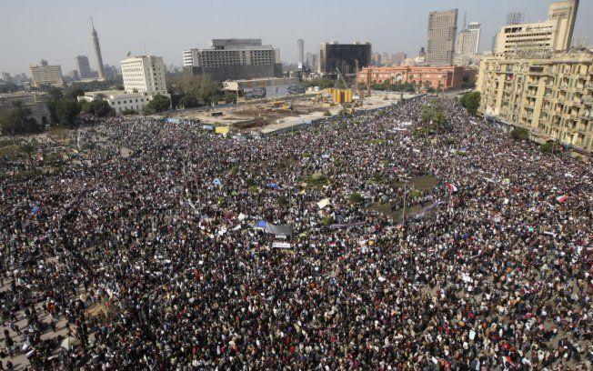 Protestos no Egito, de novo.