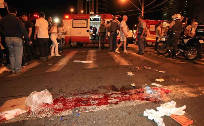 Homem atropela quatro durante protestos em Ribeirão Preto; um deles, de 18 anos, morre. É a primeira morte desde que os protestos começaram. Foto: Edson Silva/Folhapress