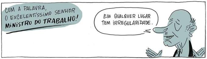 """Tirinha de Caco Galhardo publicada na """"Folha"""" de 12.9.2013"""