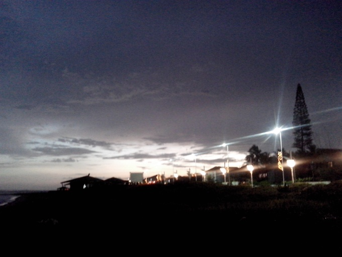 Vista à noite.
