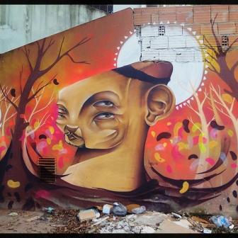 Grafite de Davi de Melo Santos, na Vila Estrela, Morro do Papagaio. Do Flickr de Davi, enviado por ele ao blog: http://www.flickr.com/photos/demelosantos