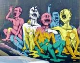 """Grafite do """"16″, que fica na rua Santa Rita Durão, bairro Funcionários. Fotografado por CMC em maio de 2013"""