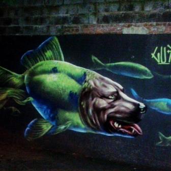 Grafite de Marcelo Gud, na rua Prof. Estêvão Pinto, Serra. Fotografado por Beto Trajano em 5.4.2014.