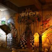 Grafite histórico de BH, debaixo do viaduto de Santa Tereza, enviado por Davi de Melo Santos. Foi feito por ele próprio, com Seth, Hyper, Dalata e MTS.