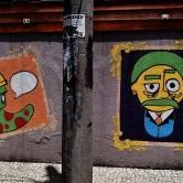 Grafite de Marlon a rua Professor Morais com av. Getúlio Vargas. Fotografado por CMC em janeiro de 2014
