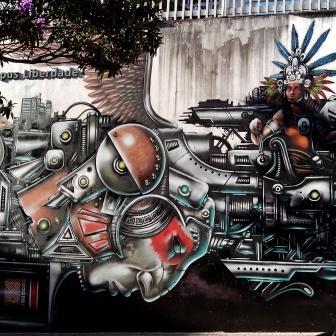 Grafite de Hyper. Na rua Gonçalves Dias, 1.440, campus Liberdade da UNA. Fotografado por Beto Trajano em março de 2014