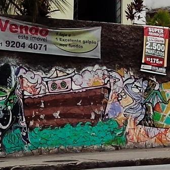Grafite do Mosh, na avenida Amazonas, Barroca. Fotografado por CMC em março de 2014
