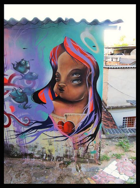 Grafite de Davi de Melo Santos, André Dalata e Thiago Alvim, no bairro Santo André.