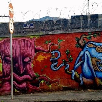 Grafite na rua Pacífico Faria, bairro Pompeia. Foto de Beto Trajano, em janeiro de 2014.