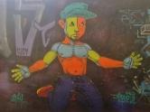 Grafite do Dequete na avenida Prof. Alfredo Balena. Foto tirada por Beto Trajano em 18.7.2014.
