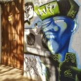 Grafite na rua Aimorés. Foto tirada por Beto Trajano em 24.7.2014.