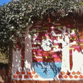 Grafite de Clara Valente, na avenida Bandeirantes, Mangabeiras. Foto de Beto Trajano, tirada em 21.8.2014