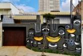 Grafite na rua Palmira, no Serra, centro-sul de BH. Foto: CMC, feita em 19.5.2015