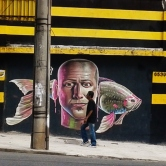 Grafite do Gud (refeito) no muro do colégio Padre Machado (Contorno perto da Getúlio). Foto de CMC em 19.6.2015