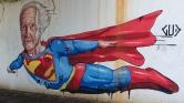 Grafite de Gud na avenida dos Bandeirantes perto da praça das Bandeiras. Foto: CMC em 8/2/2016