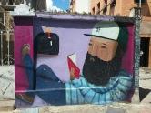 Grafite na av. do Contorno quase com Assis Chateaubriand. Foto de CMC em 3.3.2017.