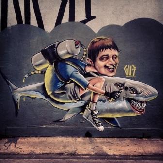 Grafite de Marcelo Gud na rua Niquelina, Santa Efigênia. Fotografado por Guilherme Ávila e publicado originalmente em janeiro/2014 em seu Instagram: http://instagram.com/guilherme_avila