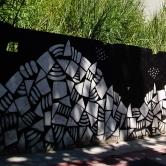 Grafite de Baba Jung na avenida Bandeirantes, Mangabeiras. Fotografado por CMC em 7.4.2014