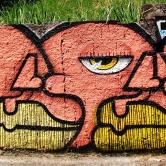 Grafite de Thiago Alvim na avenida Bandeirantes, Mangabeiras. Fotografado por CMC em 7.4.2014