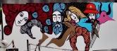 Arte de Rogério Fernandes (inacabada) no muro do prédio da Rede Minas, na av. Nossa Senhoa do Carmo, Sion. Foto de CMC em 13/13/2014