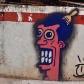Grafite em rua aberta recentemente, a partir da rua Monte Alegre, ainda sem nome, no Serra. Fotografado por CMC em 13.4.2014.
