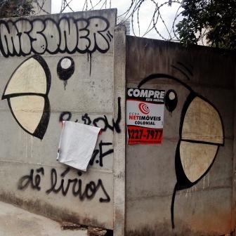 Grafite de Baba Jung na rua Senador Pompeu, no Serra. Fotografado por CMC em 13.4.2014.
