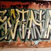 Grafite na rua Palmira, no Serra. Fotografado por CMC em 13.4.2014.