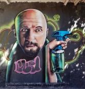 Grafite de Marcelo Gud, em foto tirada por CMC em 9.6.2014 (se não me engano, na av. Francisco Sales, bairro Santa Efigênia, BH).
