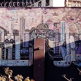 Arte de rua na av. do Contorno quase esquina com Prudente de Morais. Foto tirada por CMC em 10.8.2014.