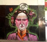 Grafite de Marcelo Gud na rua Antônio de Albuquerque, perto da praça da Savassi. Foto de CMC em 13.9.2014