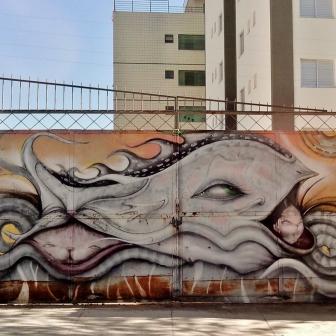 Grafite na rua Joanésia, na Serra, em foto de CMC tirada em 24.9.2014
