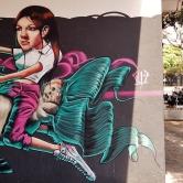 Grafite de Marcelo Gud na rua Pernambuco, perto do Café Status. Fotografado por CMC em 28.9.2014