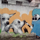 Grafite na rua da Bahia perto da Tomé de Souza, fotografado por CMC em 28.9.2014