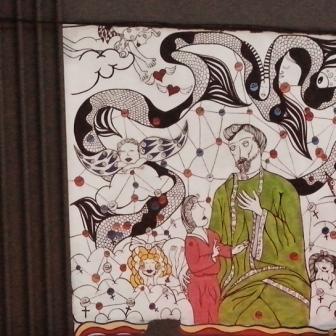 Arte de Ataíde Miranda no posto da rua Rio Grande do Norte com av. Getúlio Vargas, na Savassi. Foto tirada por CMC em 12.11.2014