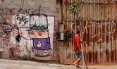 Grafite na avenida Amazonas. Foto de CMC em 13.11.2014
