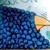 Grafite de Baba Jung na rua do Ouro perto da Monte Sião, na Serra, Centro-Sul de BH. Fotografado em 9.12.2014 por CMC.