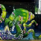 Grafite do Binho, na av. Bandeirantes. Foto: CMC, em 10.12.2014