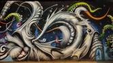Grafite na av. Bandeirantes. Foto: CMC, em 10.12.2014