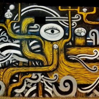 Grafite do Thiago Alvim, na av. Bandeirantes. Foto: CMC, em 10.12.2014