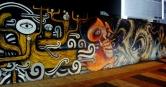 Vista dos grafites de Thiago Alvim e Binho, na av. Bandeirantes. Foto: CMC, em 10.12.2014