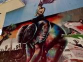 Grafite na rua Conselheiro Lafaiete com Pouso Alegre, no bairro Floresta, Leste de BH. Foto de CMC tirada em 27/12/2014