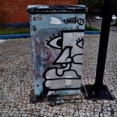 Grafite na rua Tomé de Sousa, Savassi. Fotografado por CMC em 4/1/2015