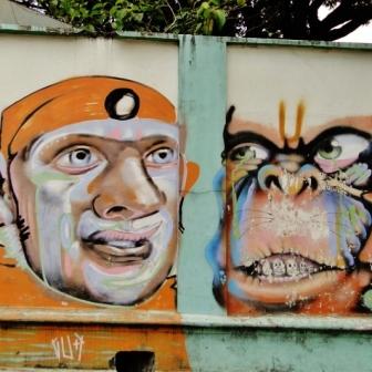 Grafite de Marcelo Gud na avenida Getúlio Vargas, esquina com rua Rio Grande do Norte, no muro da Escola Estadual Barão do Rio Branco, na Savassi. Fotografado por CMC em 18.12.12 (mas continua lá até maio de 2014)