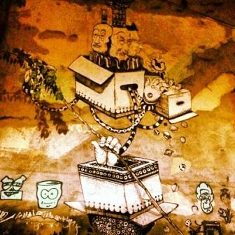 Grafite no Mirante da Glória, no Horto. Fotografado por Guilherme Ávila e publicado originalmente em dezembro/2013 em seu Instagram: http://instagram.com/guilherme_avila