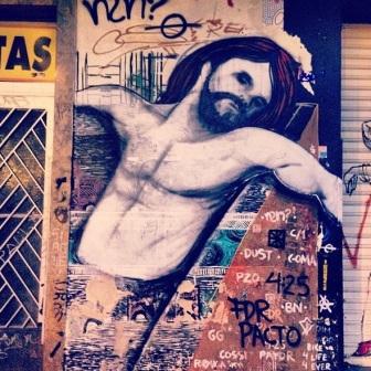 Grafite na rua Aarão Reis, Floresta. Fotografado por Guilherme Ávila e publicado originalmente em seu Instagram: http://instagram.com/guilherme_avila