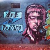 Grafite na Padaria do Baixinho, rua Cassiterita, bairro Santa Inês. Fotografado por Guilherme Ávila e publicado originalmente em fevereiro/2014 em seu Instagram: http://instagram.com/guilherme_avila